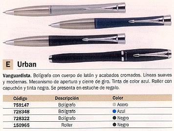 PARKER BOLIGRAFO REGALO URBAN ACERO LATON + ACABADO CROMADOS TINTA AZUL ESTUCHE REGALO S0767140