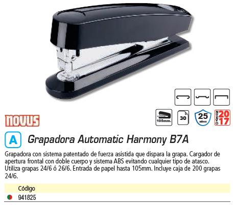 NOVUS GRAPADORA AUTOMÁTICA L.HARMONY B7A 020-1056