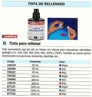 EDDING FRASCO DE TINTA T-1000 AZUL 1000 ML T1000-03