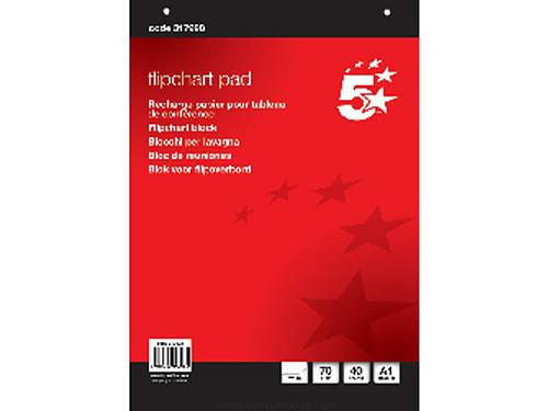 ENVASE DE 5 UNIDADES 5 STAR BLOC PIZARRA 20 HOJAS 81.3X59.5CM LISO 632911 FL01080