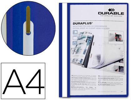 ENVASE DE 25 UNIDADES DURABLE DOSSIERS DURAPLUS A4 FASTENER METALICO AZUL PVC 2579-06