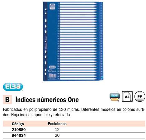 Separadores ENVASE DE 25 UNIDADESELBA SEPARADORES ALFABETICOS ONE 20 POSICIONES A-Z A4 AZUL 400010222