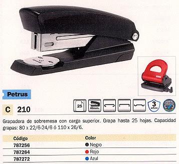 PETRUS GRAPADORA 210 25 HOJAS NEGRA 623366