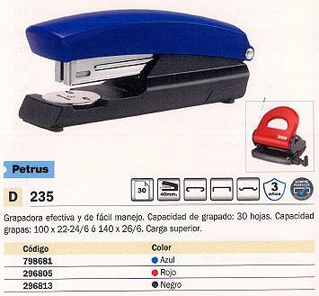 PETRUS GRAPADORA 235 30 HOJAS NEGRA CARGA SUPERIOR 40 MM 623370