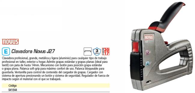 NOVUS CLAVADORA J27 030-0439