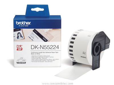 BROTHER CINTA CONTINUA DKN55224 54 MM 30,48 M BLANCA DKN55224
