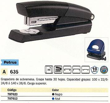 PETRUS GRAPADORA 635 WOW 30 HOJAS AZUL CARGA SUPERIOR 623373