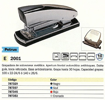 PETRUS GRAPADORA 2001 40 HOJAS ROJO CARGADOR DOBLE 44785