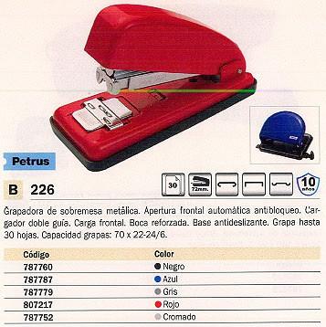 PETRUS GRAPADORA 226 30 HOJAS CROMADA CARGA FRONTAL 44709