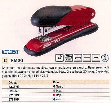 RAPID GRAPADORA FM12 25 HOJAS NEGRA 50 MM 21821701