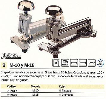 EL CASCO GRAPADORA M 10 30 HOJAS PINTADA 1010GRB