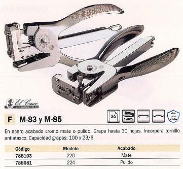 Tenazas EL CASCO GRAPADORA DE TENAZAS M-83 30 HOJAS CROMADA 100 GRAPAS 1083CRB