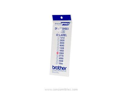 BROTHER ETIQUETA PRECORTADA BLANCA PELICULA PLASTICA 22X60 MM