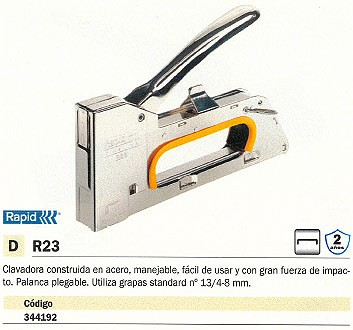 RAPID CLAVADORA R23 GRAPAS ESTANDAR N13 PALANCA PLEGABLE 20510450