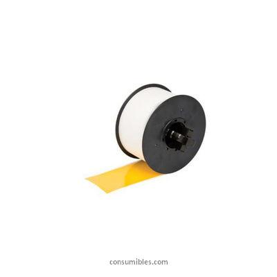 etiqueta Amarilla negro RC T5YNA pelicula plastica 50 mmX15M continuo