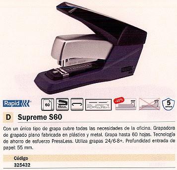 RAPID GRAPADORA SUPREME S60 60 HOJAS 25202001