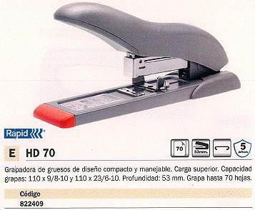 RAPID GRAPADORA DE GRUESO HD 70 70 HOJAS GRIS 281405