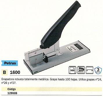 PETRUS GRAPADORA DE GRUESO 1600 100 HOJAS CROMADA 0000044737