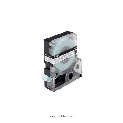 Cintas para rotular Epson EPSON CINTA ROTULADORA LC-4TWN9 9M 12MM TRANSPARENTE / BLANCO C53S625408