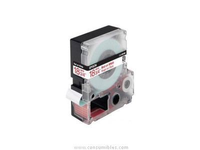 cinta rotuladora NO laminada LC 5WRN9 Blanco Rojo 9M 18 mm