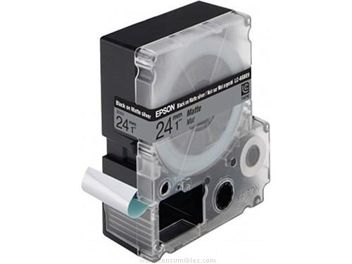 Sobres Blancos EPSON CINTAS ROTULACION LC-6SBE9 24 MM NEGRO TRANSPARENTE PLASTICO C53S627405