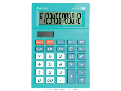 CANON CALCULADORA SOBREMESA AS 120 12 DIGITOS AZUL 5476B001AA