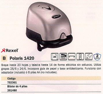 REXEL GRAPADORA ELECTRICA POLARIS 1420 20 HOJAS 2101199