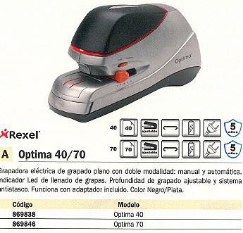 Comprar 869838 acco rexel grapadora electrica optima 40 - Grapadora electrica precio ...