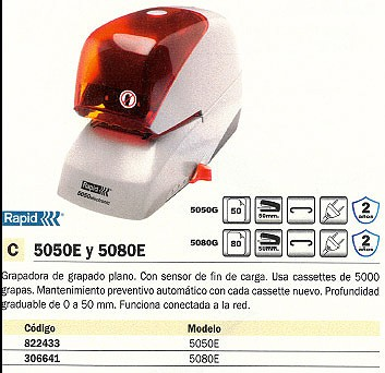 RAPID GRAPADORA ELECTRICA 5050E 50 HOJAS 20993210