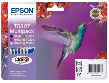 CARTUCHO DE TINTA MULTIPACK T080140+240+340+440+540+640 EPSON T0807