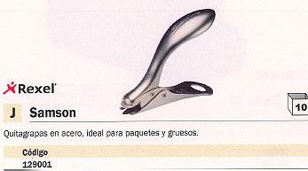 REXEL EXTRAEGRAPAS SAMSON ACERO 37201