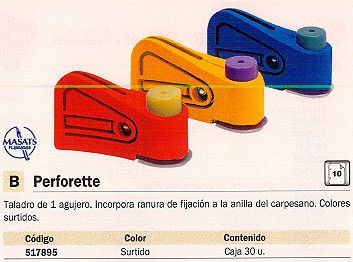 5 STAR EXPOSITOR TALADROS COLORES SURTIDOS 1 TALADRO 30 UD PF0005