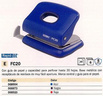 RAPID TALADRO METÁLICO FC 20 NEGRO 23256400