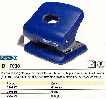 RAPID TALADRO FC30 30 HOJAS NEGRO 23639401