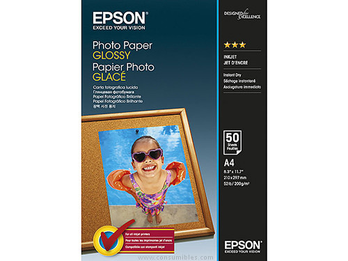 EPSON C13S042539|PHOTO PAPER GLOSSY A4 50 HOJAS 200 GRAMOS