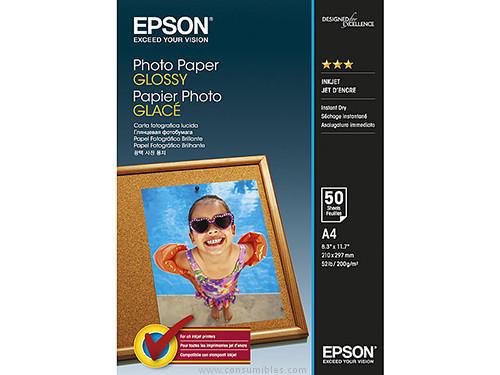 DIN A4 EPSON PAPEL FOTOGRAFICO GLOSSY 50 HOJAS A4 BRILLO C13S042539