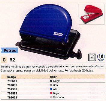 PETRUS TALADRO 52 20 HOJAS AZUL 33744