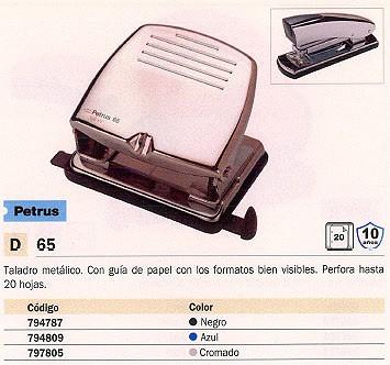 PETRUS TALADROS 65 20 HOJAS CROMADO 2 TALADROS 33711