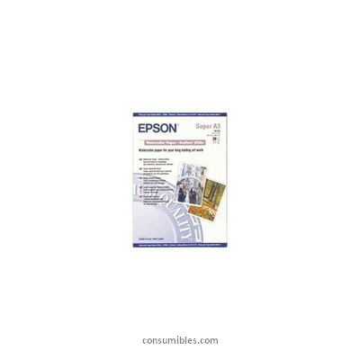WATER COLOR PAPER -RADIANT WHITE PAPEL ACUARELA BLANCO DIN A3 + EPSON S041352