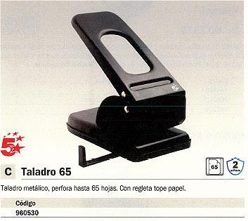 5 STAR TALADROS METÁLICOS MOD. 65 65 HOJAS NEGRO 2 TALADROS 960530