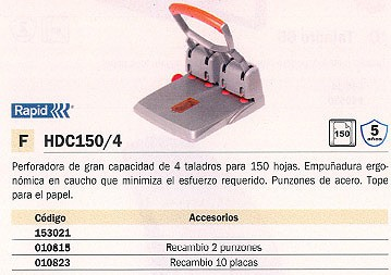RAPID RECAMBIO DE PLACAS 10 UD PARA MODELO HDC150/4 23001000