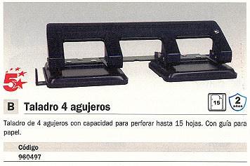 5 ESTRELLAS TALADROS DE 4 AGUJEROS 15 HOJAS NEGRO TOPE PAPEL 960497