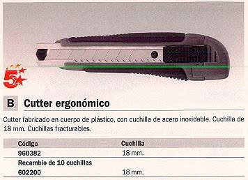 OLFA CUCHILLAS CUTTERS L-1 18 MM 10 UD LB-10B