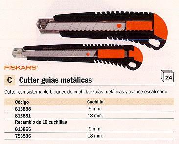 ENVASE DE 12 UNIDADES FISKARS CUCHILLAS CUTTERS 9 MM 10 UD 1004614