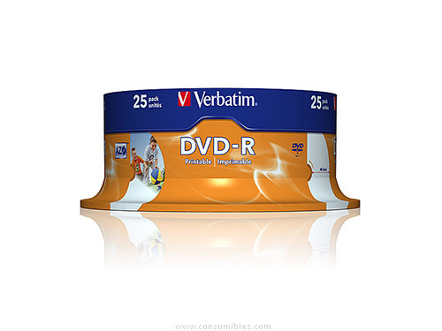 DVD-R Advanced AZO bobina pack 25 unidades 16x 4 7Gb 120 min imprimible 43538