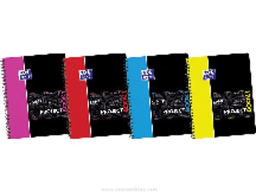 Cuadernos ENVASE DE 5 UNIDADESOXFORD CUADERNO PROJECT BOOK 4 120H A4+ HORIZONTAL SURTIDO 400063230