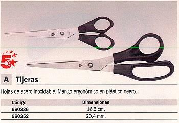 5 ESTRELLAS TIJERAS 20,4 CM NEGRO ACERO INOXIDABLE E-31181 SP