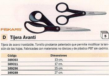 ENVASE DE 6 UNIDADES FISKARS TIJERAS FUNCTIONAL FORM 25 CM ACERO INOXIDABLE REF.839961