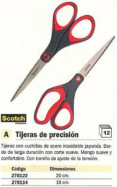 SCOTCH TIJERAS PRECISION 20 CM ACERO INOXIDABLE MANGO SUVE Y CONFORTABLE FT600004020