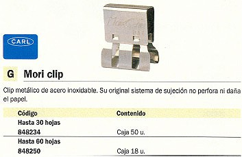 5 ESTRELLAS CLIPS LABIADOS CAJA 100 UD 33MM NIQUELADO 503360